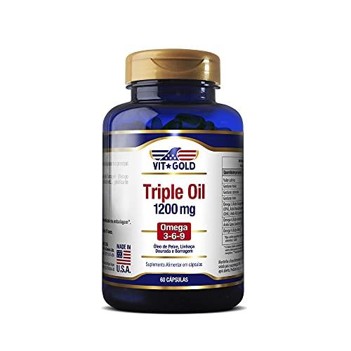 Triple Oil 1200mg (Óleo de Peixe, Linhaça e Boragem) Vitgold 60 caps
