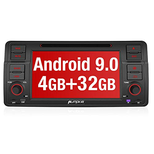 PUMPKIN Android 9.0 Autoradio Radio für BMW 3er E46 mit Navi 4GB / 8 Core Unterstützt Bluetooth DAB + Android Auto CD DVD WiFi 4G USB MicroSD 7 Zoll Bildschirm