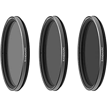 SANDMARC Hybrid Pro Filters - 67mm Polarized ND Filter Set for DSLR & Mirrorless Cameras - ND16/PL, ND32/PL & ND64/PL (3-Pack)