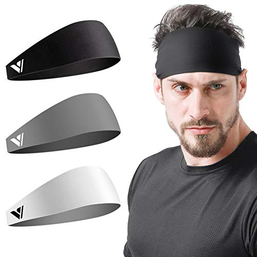 Vgogfly Sweat Headbands for Men Sweatbands for Mens Headband Running Sweat Bands Headbands Men Workout Sports Hairband for Men Thin Fitness Gym Yoga Men Headband
