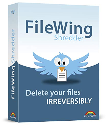 FileWing Shredder - Safely and irreversibly removes files - 100% wipes out your personal and confidential data - compatible with Windows 10, 8, 7