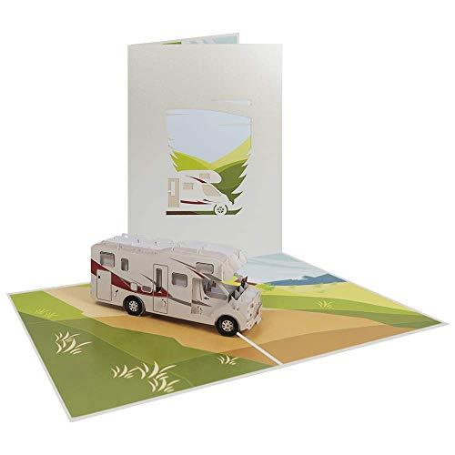 Camping Pop Up Card Birthday Vacation Holiday Greeting Good Luck Travel -...