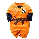 YFYBaby Goku Newborn Baby Boys Romper Infant Toddler 100% Organic Cotton One-Piece Jumpsuit Orange1, 6-9 Months