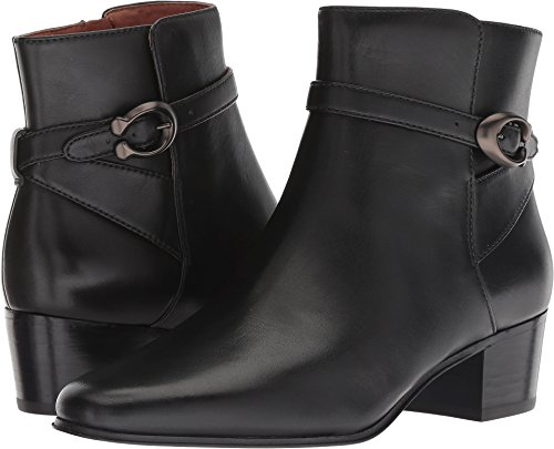 COACH Womens Chrystie Bootie Almond Toe Ankle Fashion, Black Leather, Size 8.5