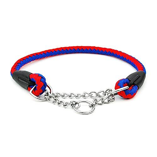 Strimm Verstellbare Nylon Kettenhalsband Würgehalsband Erziehungshalsband Zughalsband Kragen mit Pirate Druckmuster für Mittel Große Hund