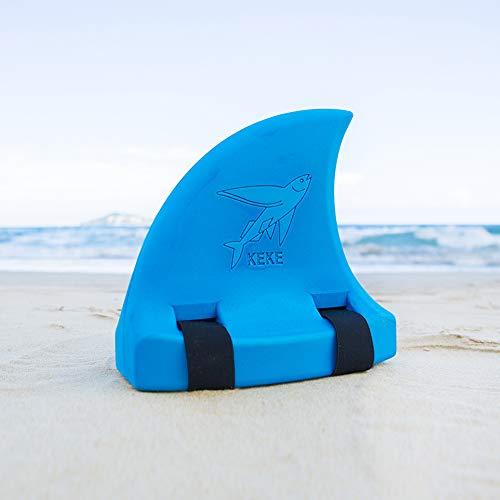 LAMF Kinder Haiflosse zum Schwimmen, mehrfarbiger Eva-Schaum, Schwimmhilfen für Kinder, Jungen, Mädchen, Haifischflosse, Schwimmbrett für Menschen von 66 kg bis 110 kg, blau, 10x5.5x9.8inch