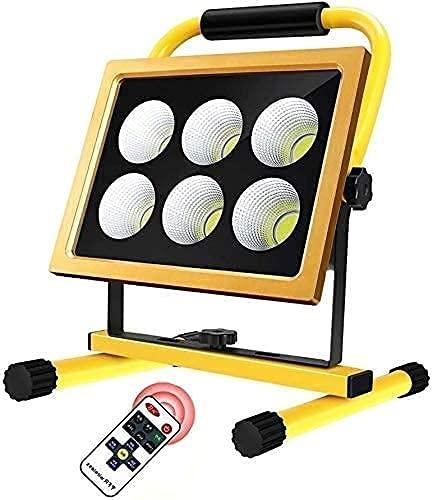 NYZXH Ficha LED 200W 8000LM LED Foco Recargable  con Control Remoto y 4 Modos de luz Luz de Trabajo, IP65 Impermeable para la Pesca para Acampar