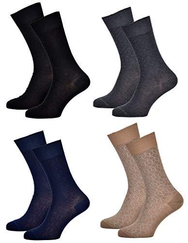Ozabi – Herren-Socken KINDY aus Baumwolle – verschiedene Modelle nach Verfügbarkeit – mehrfarbig Gr. One size, Set mit 3 Paar Dund Überraschungsgarn