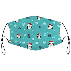 Maschere di stoffa per la decorazione di Natale, maschera lavabile, riutilizzabile, traspirante, regolabile, copertura della bocca, per gli uomini e le donne, 5 pezzi