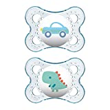 MAM Clear Collection Pacifiers (2 pack, 1 Sterilizing Pacifier Case), MAM Pacifier 0-6 Months, Baby Pacifiers, Baby Girl, Best Pacifier for Breastfed Babies