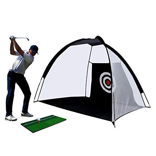 FBSPORT Red plegable de 2 m para entrenamiento de golf. Red de práctica para interiores/exteriores, patio, columpio de golpeo, rango de conducción portátil, red de golf con bolsa de transporte