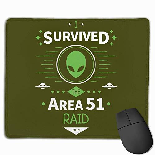Gaming Mauspad,Mausmatte,Spiel Maus Pad,Mausunterlage,Ich Habe Den Area 51 Raid Überlebt! Matte Mäuse Mousepad Für Office Home Laptop Computer Pc