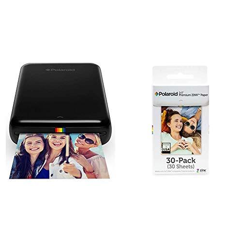 Polaroid ZIP, Stampante Portatile, Bluetooth, w/ZINK Tecnologia Zero Ink Printing, 5 x 7.6 cm & Premium ZINK Carta Fotografica 2 x 3 Pollici, Compatibile con Polaroid Snap, Snap Touch Z2300