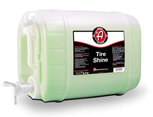Adam's Tire Shine 5 Gal - Spray Tire Dressing W/ SiO2 For Non Greasy Car Detailing | Use W/Tire Applicator After Tire Cleaner & Wheel Cleaner | Tire Ceramic Coating Car Wax Like Tire Protection