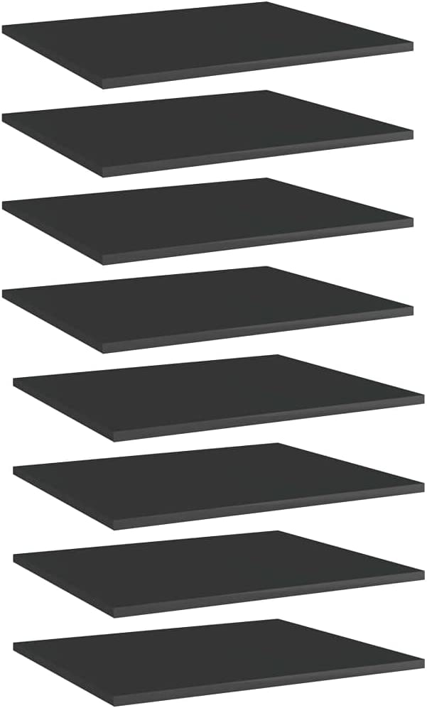 Vevelux El Paso Mall Max 61% OFF Bookshelf Boards 8 pcs Gloss 23.6