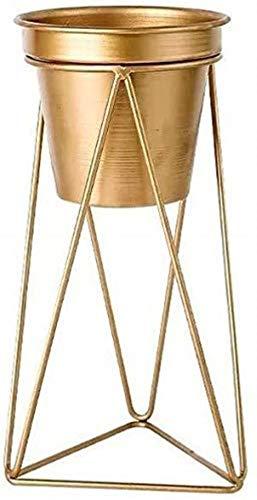 Florero de metal para floreros, soporte decorativo para plantas, mesa de salón, dormitorio (tamaño: 14 x 28 cm)