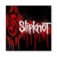 Slipknot Logo スリップノット2 木製 額縁 フォトフレーム 壁掛け 木製 横縦兼用 絵を含む 40×40cm