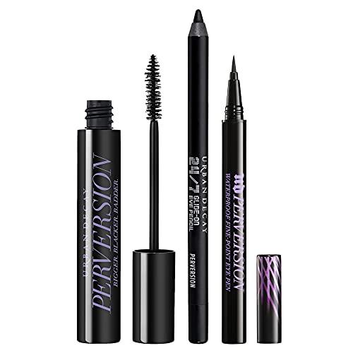 Urban Decay Perversion Eye Essentials Makeup Set - Perversion Volumizing Mascara, Perversion Waterproof Fine-Point Eye Pen (Black) & 24/7 Glide-On Eyeliner Pencil (Perversion)