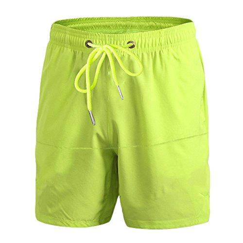 ZongSen Homme Short Sport Compression Base Layer Pantalon Leggings Court Tight Fitness Entraînement Cyclisme Vert L