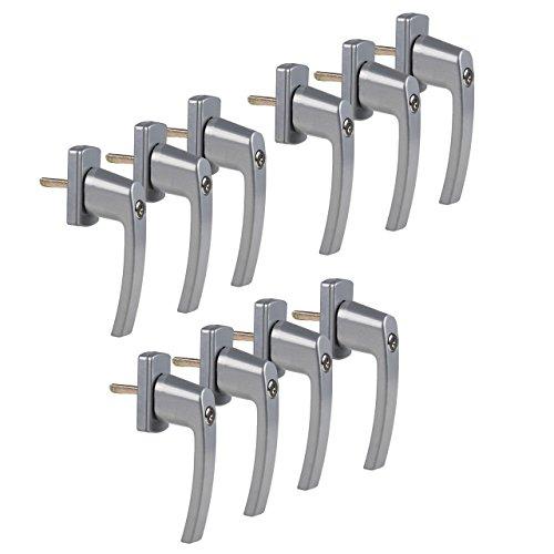 10 Stück Praktische, abschließbare Fenstergriffe, abschließbar bei geschlossenem Fenster und in Kipp-Stellung mit je 2 Schlüsseln