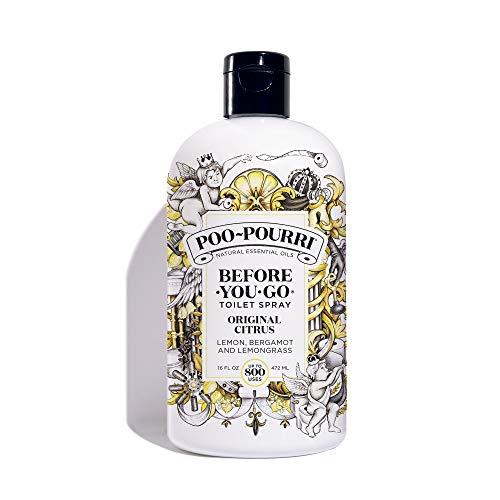 PooPourri Before-You-Go Toilet Spray Refill, 16 Fl Oz, Clear 16 Fl Oz