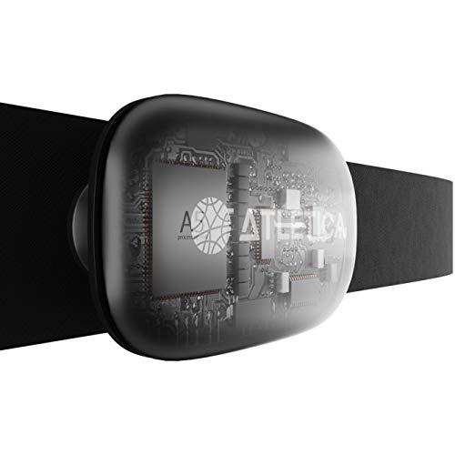 Atletica A5 | Monitor de frecuencia cardíaca | La única Banda de Pecho Que se Conecta a los Tres estándares 5.3 kHz, Bluetooth y Ant+| Compatible con Apple Samsung Huawei Xiaomi Garmin