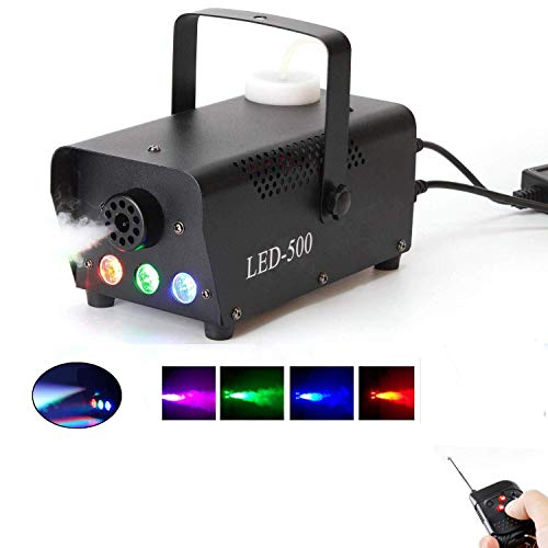 Fog Machine,500W Smoke Machine with LED Lights Wireless Remote Control for...