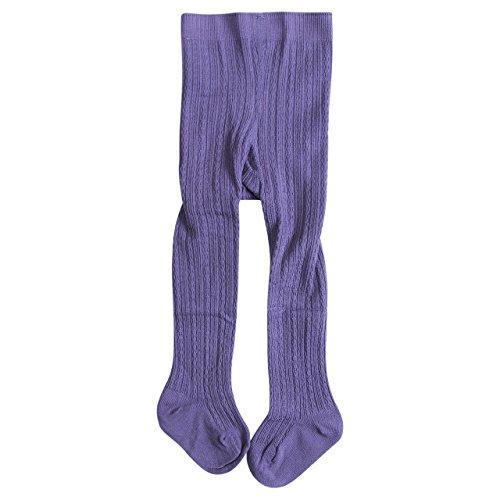YEESEU Pudcoco Chica Medias del niño del niño del bebé niña de algodón Caliente Pantys Medias Pantalones Medias Pantyhose Ropa de Abrigo (Color : Purple, Size : 6M TO 12M)
