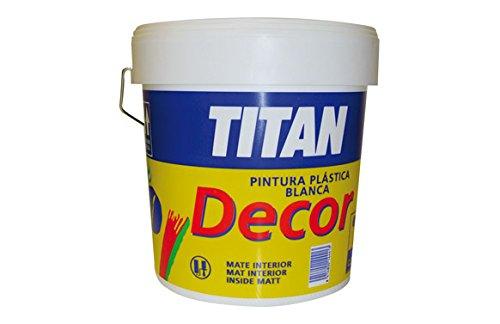 Titan M100525Paint–plastica Decor Cofac opaco interno 20kg