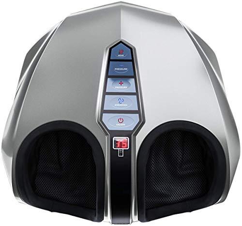 Miko shiatsu home foot massager machine with switchable heat silver