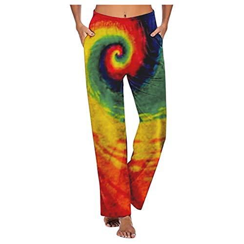 Pantalones Palazzo Hippie con Fruncido Estilo Harem para Mujer, Pantalones cómodos Informales con Estampado de Moda Sexy para Mujer