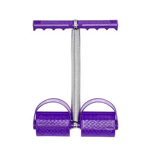 Essort - Estrattore per pedale a molla, multifunzione, corda elastica per tirare, corda a pedale a pedale, per addominali, fitness, unisex Violet