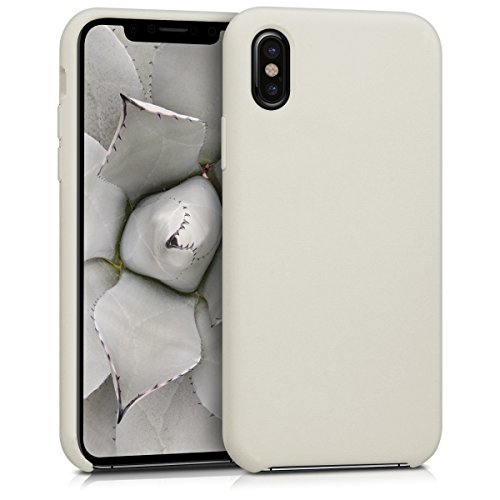 kwmobile Hülle kompatibel mit Apple iPhone X - Hülle Handyhülle gummiert - Handy Hülle in Beige