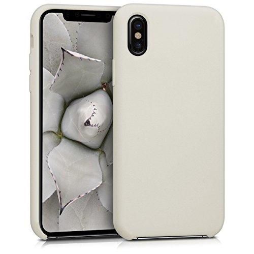 kwmobile Hülle kompatibel mit Apple iPhone X - Handyhülle gummiert - Handy Hülle in Beige
