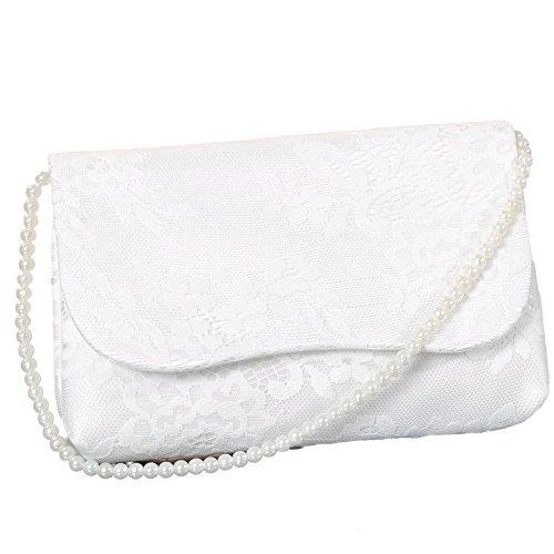 Brauttasche Tessa Farbe creme (ivory) Handtasche mit Spitze für die Braut