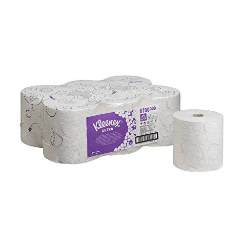 Kleenex 6780 Ultra Essuie Mains en Rouleaux 600 Formats à 2 Plis Pack de 6