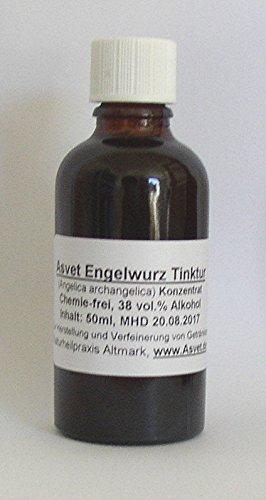 Asvet 50ml Angelica Tropfen, Angelika Extrakt, Engelwurz Konzentrat, ohne Chemie (GP = EUR 35,80/100ml)