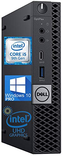 Dell OptiPlex 5070 Micro Desktop Computer, Intel Core i5-9500t Upto 3.70GHz 16GB RAM, 512GB M.2 NVME SSD, AC Wi-Fi, Bluetooth, DisplayPort, HDMI - Windows 10 Pro