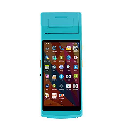 Diy Family Store Handheld POS Terminal PDA 5.5 Pouces avec 58mm Imprimante Thermique sans Fil Bluetooth et WiFi système Android avec imprimante Thermique intégré et Barcode Scanner