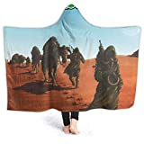 Needlove Dopesmoker Sleep Ultra Soft Light Weight Hooded Throw Blanket Comfy Fluffy Quilt for Bed Couch Sofa Living Room Picnic Suitable All Seasons 80' x60