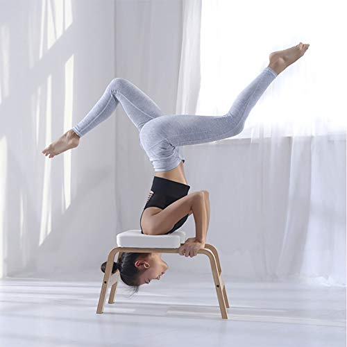 Affordable LISI Yoga Headstand Bench Inversion Chair Stool, Shape Body Yoga Asana Practice Chair for...