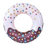Flotadores de piscina, tubos de natación de pintura de dibujos animados, anillo de natación inflable de 134,6 cm para regalo de adultos, verano, playa, piscina, fiesta, decoración