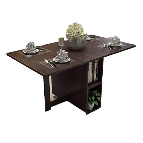 JIADUOBAO Mesa de comedor marrón estilo retro Langer mesa de comedor plegable de madera (tamaño: 1,2 m)
