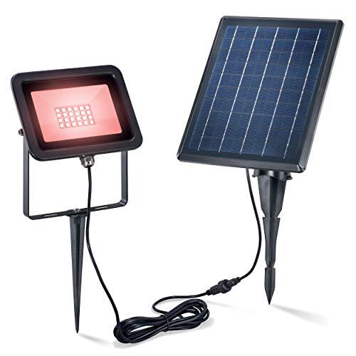 Solaire Premium Luminaire Avec 28 Leds - Ultra Large 5 W Module - Rvb (Rouge,Vert,Bleu) Changement de Couleur - Divers Lumière au Choix - Durée Et Socle en Alternance - Lampe Spot Projecteur Jardin