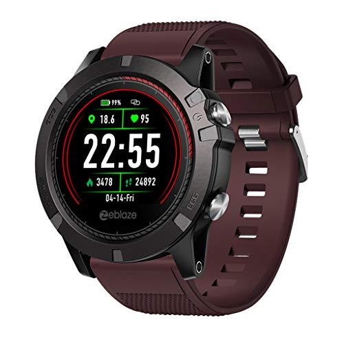 Bibao - Reloj Inteligente Resistente al Agua, rastreador de Actividad Deportiva, Monitor de Ritmo cardíaco y sueño