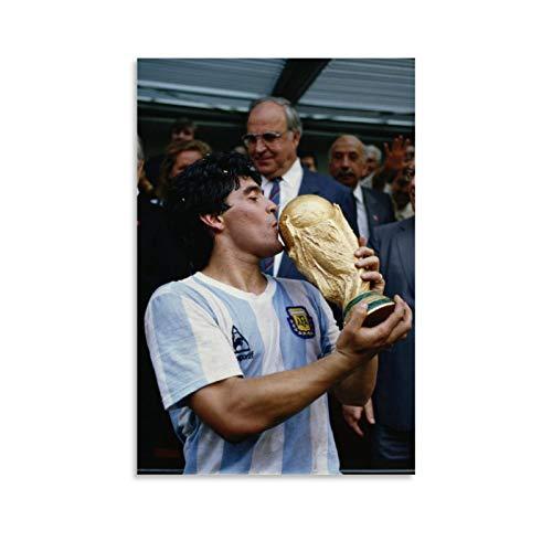 UWER Diego Armando Maradona - Póster decorativo de la Copa del Mundo de Maradona, 20 x 30 cm