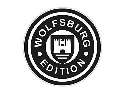 NetSpares 119476585 1 x Aufkleber Wolfsburg Edition Autoaufkleber Sticker Tuning Shocker Dub Fun Gag