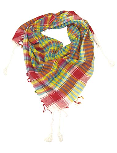 Cotton Desert Scarves for Women - White colourful scarf for girls - Fashion colourful rainbow scarfs arab arabic shemagh shemaghs