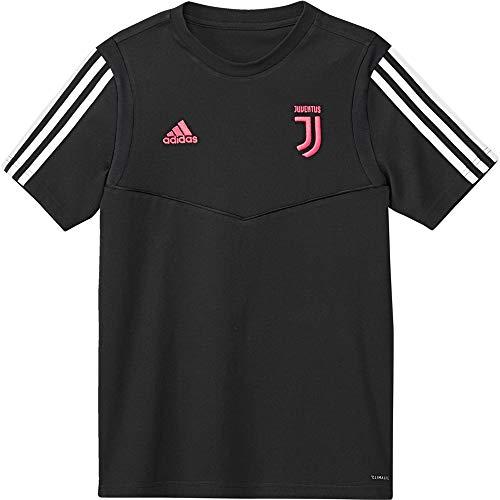 adidas Juventus Tee, Maglietta da Calcio A Maniche Corte Unisex Bambini, Nero/Dkgrey, 1314