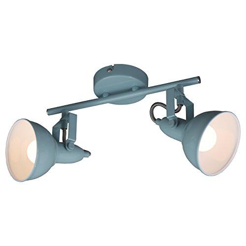 Briloner Leuchten Deckenleuchte, Metall, Mint-Weiß, 2049-020